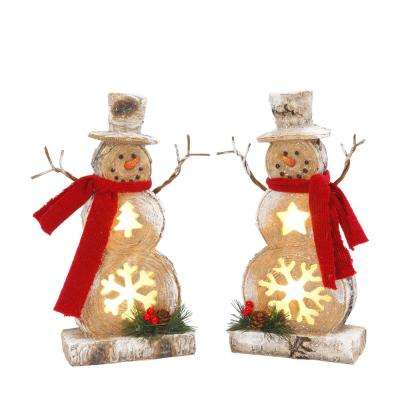 h resin snowmen 2 set