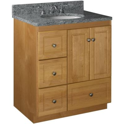 Ultraline 30 in. W x 21 in. D x 34.5 in. H Vanity with Left Drawers Cabinet Only in Natural Alder