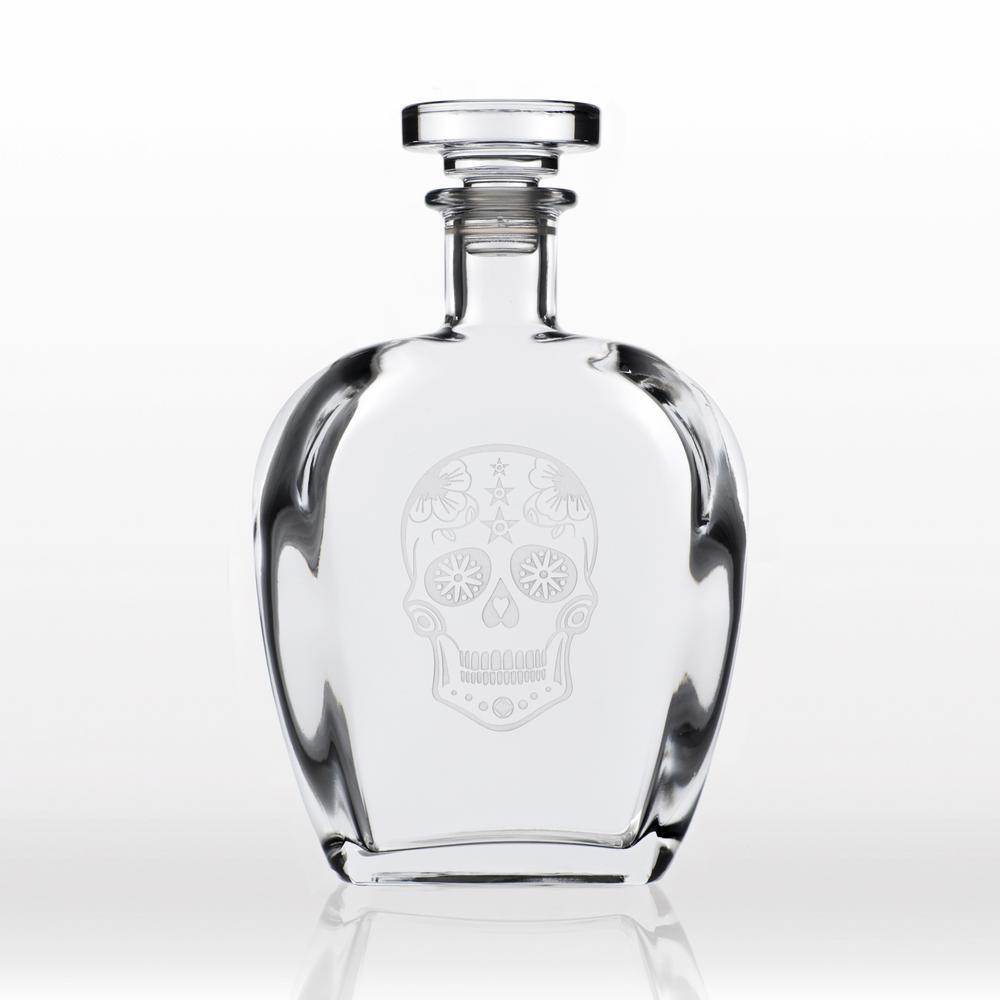 Rolf Glass Sugar Skull 23 oz. Whiskey Decanter 248806
