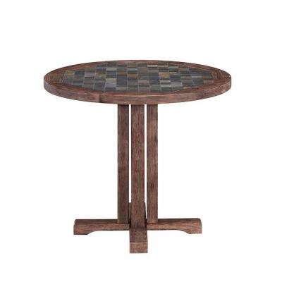 Morocco Round Acacia Wood Patio Dining Table