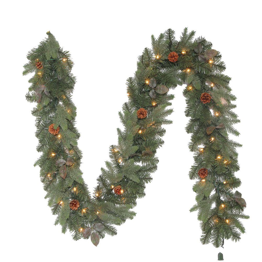 null 9 ft. Greenland Artificial Garland with 50 Clear Lights