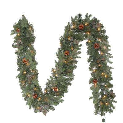 9 ft. Greenland Artificial Garland with 50 Clear Lights