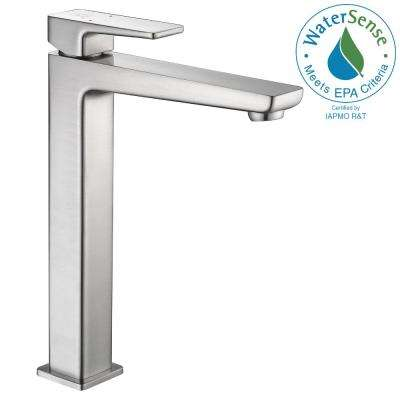 Valor Single Hole Single-Handle Bathroom Faucet in Brushed Nickel
