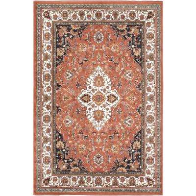 Medallion Style Copper 6 ft. x 8 ft. Area Rug