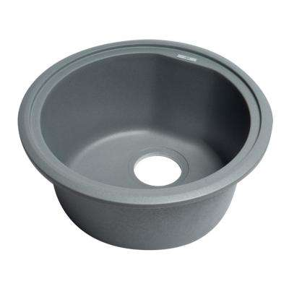 Drop-In Granite Composite 17 in. Single Bowl Kitchen Sink in Titanium