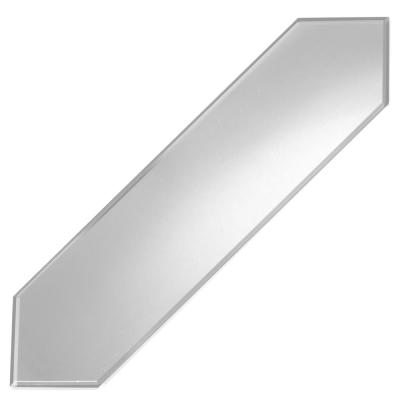 Reflections Silver Beveled Picket 3 in. x 12 in. Matte Glass Mirror Wall Tile (0.21 Sq. ft./Pc)