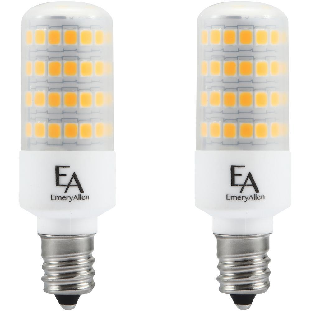 60-Watt Equivalent E12 Base Dimmable 2700K LED Light Bulb Warm White (2-Pack)