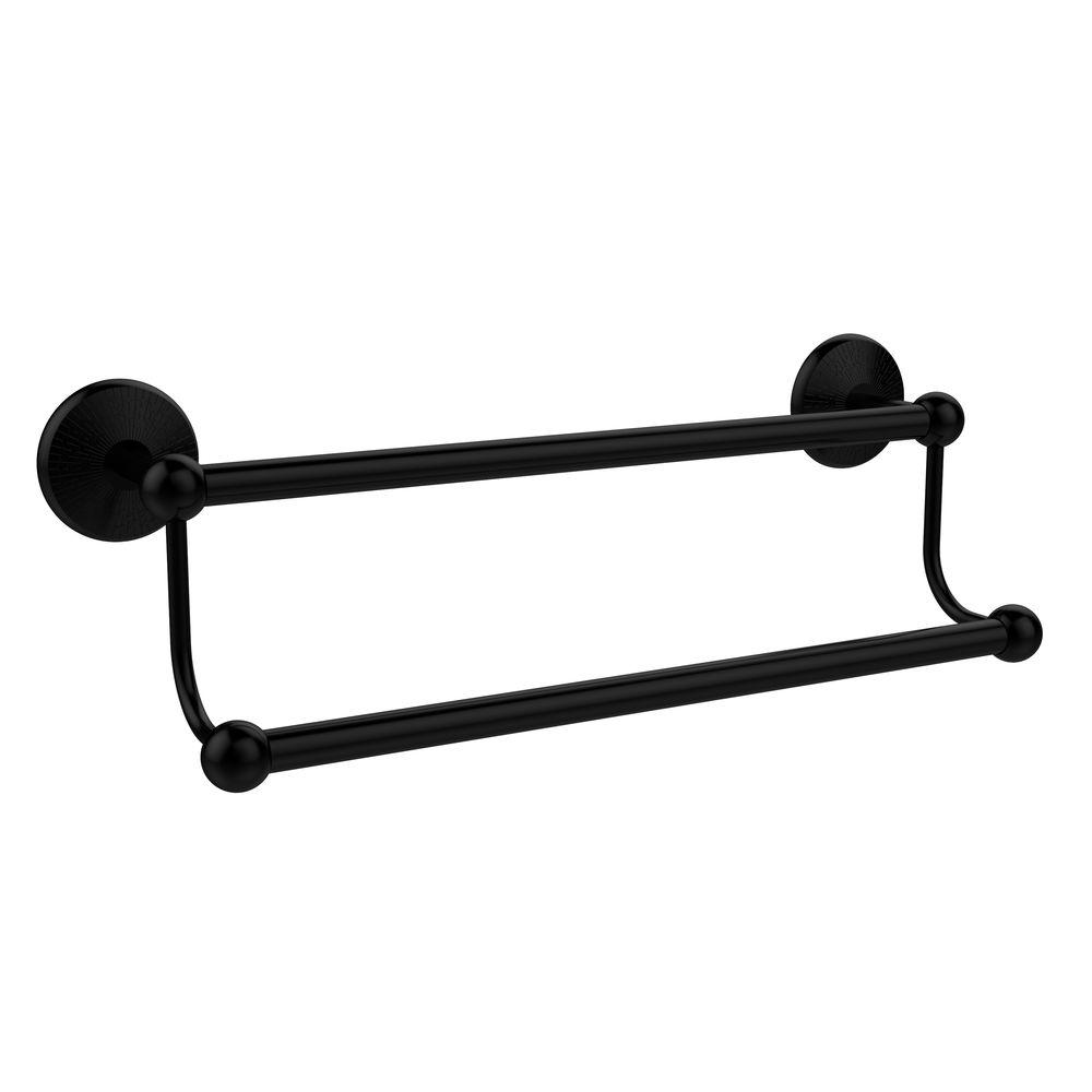 Allied Brass Prestige Monte Carlo Collection 24 in. Double Towel Bar in Matte Black