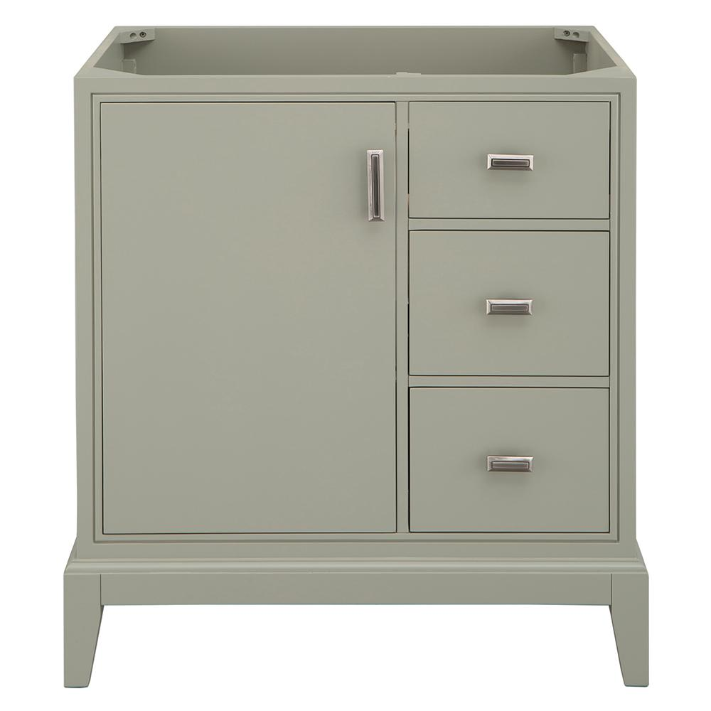 Home Decorators Collection Shaelyn 30 in. W x 21.75 in. D Vanity Cabinet Only in Sage Green