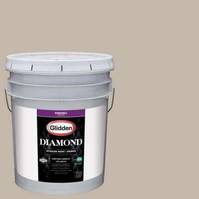 5 gal. #HDGWN24 Stone Harbor Greige Eggshell Interior Paint with Primer