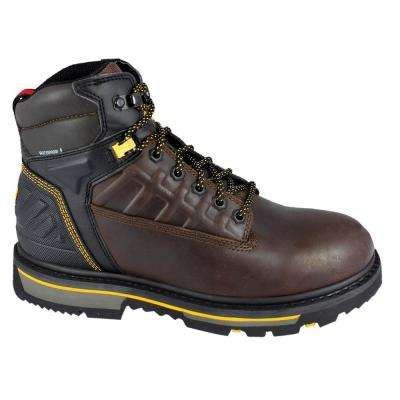 Secure 2.0 Men 6 in. Size 12 Brown Leather Composite Toe Waterproof Work Boot