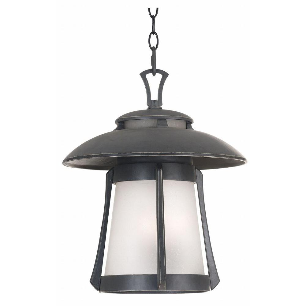 Kenroy Home Laguna 3-Light Large Ebony Pearl Hanging Lantern-DISCONTINUED