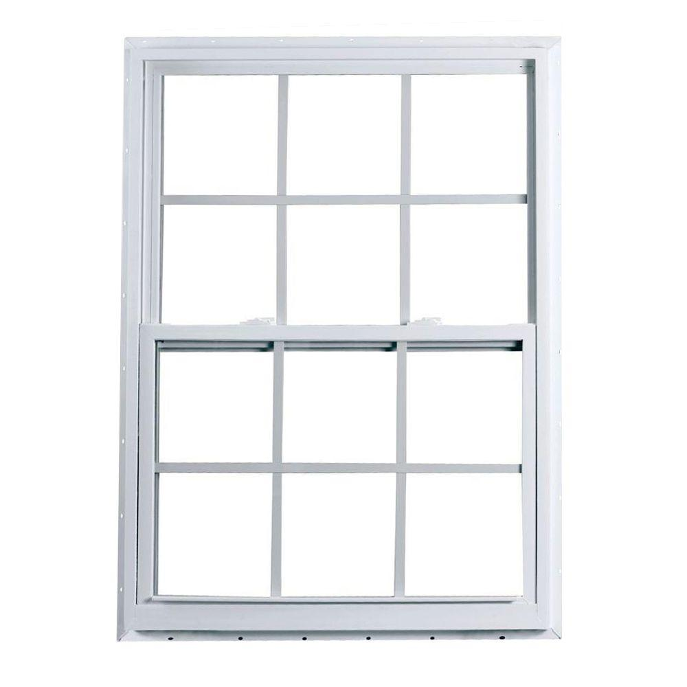 American Craftsman 32 In X 60 2300 Series Single Hung Fin Vinyl Window With Grilles White