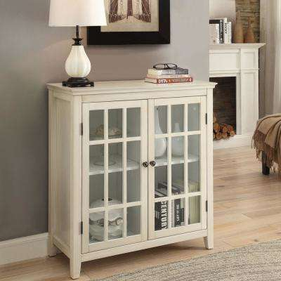 Largo Antique White Storage Cabinet