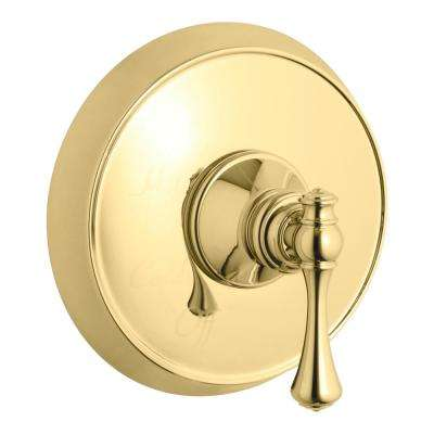 Revival 1-Handle Tub and Shower Faucet Trim Kit with Lever Handle in Polished Brass (Valve Not Included)