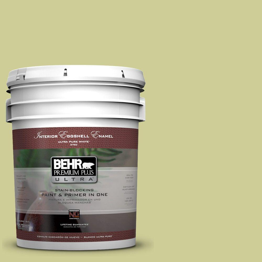 5-gal. #400D-4 Corn Husk Green Eggshell Enamel Interior Paint