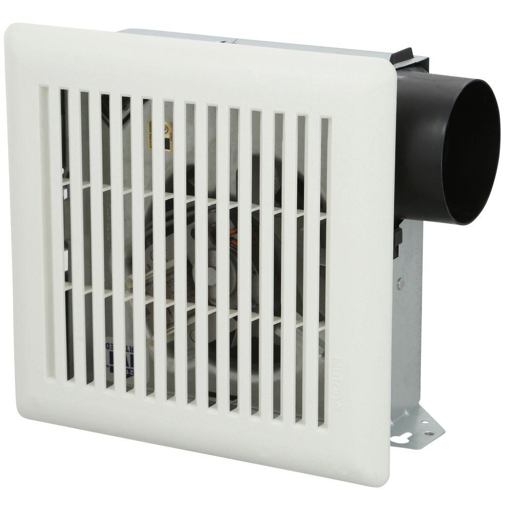 Nutone 50 cfm wall ceiling mount exhaust bath fan 696n the home depot for Exterior mounted exhaust fans for bathroom