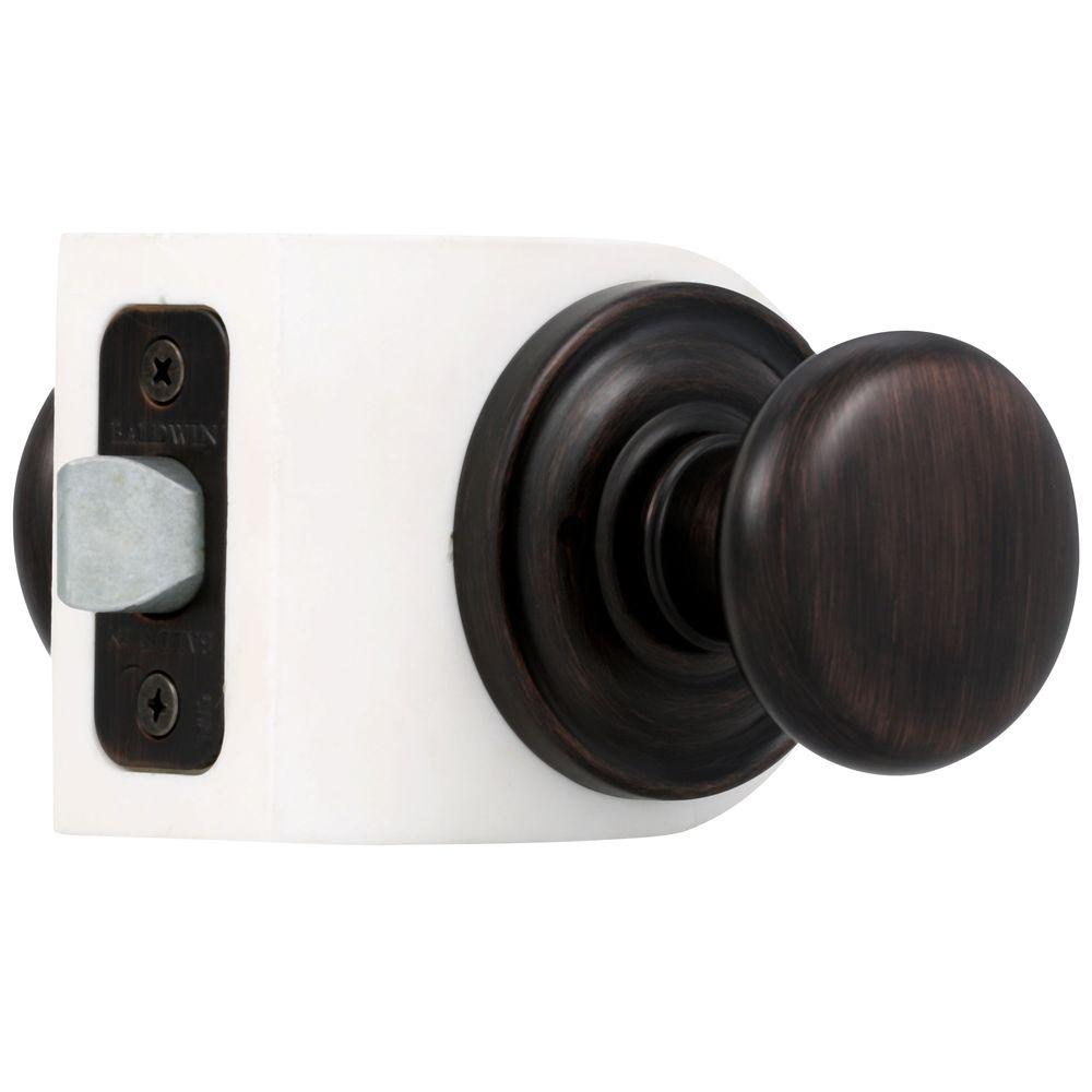 Reserve Round Venetian Bronze Bed/Bath Knob with Traditional Round Rose