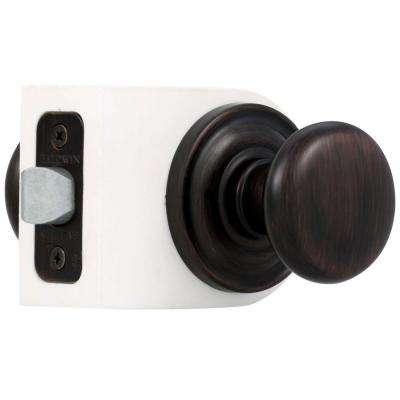 Reserve Round Venetian Bronze Bed/Bath Door Knob with Traditional Round Rose