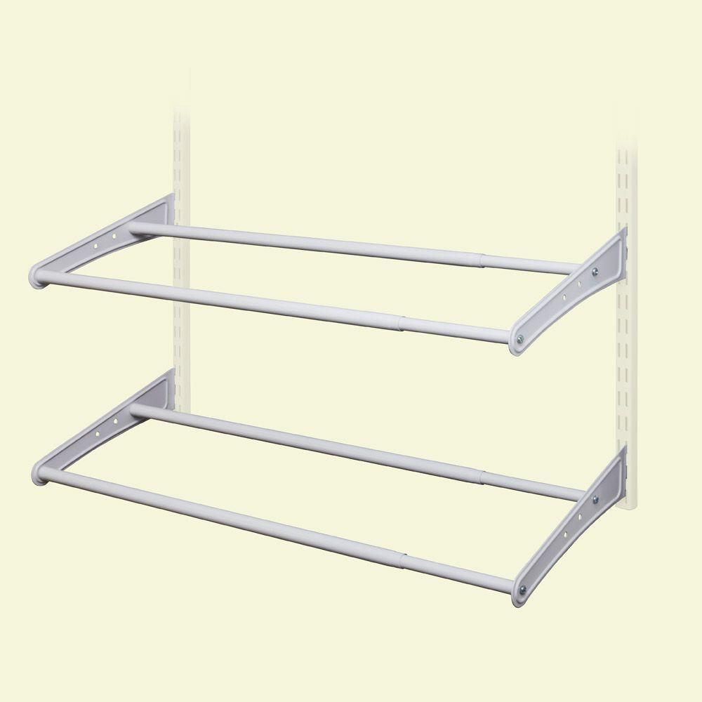 ClosetMaid ShelfTrack 10 Pair 24   42 In. W White Adjustable Shoe Organizer