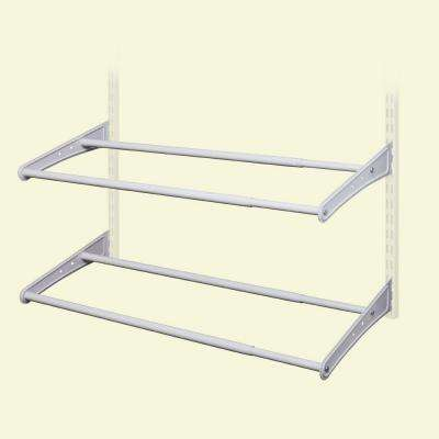ShelfTrack 24 - 42 in. W White Adjustable Shoe Shelf