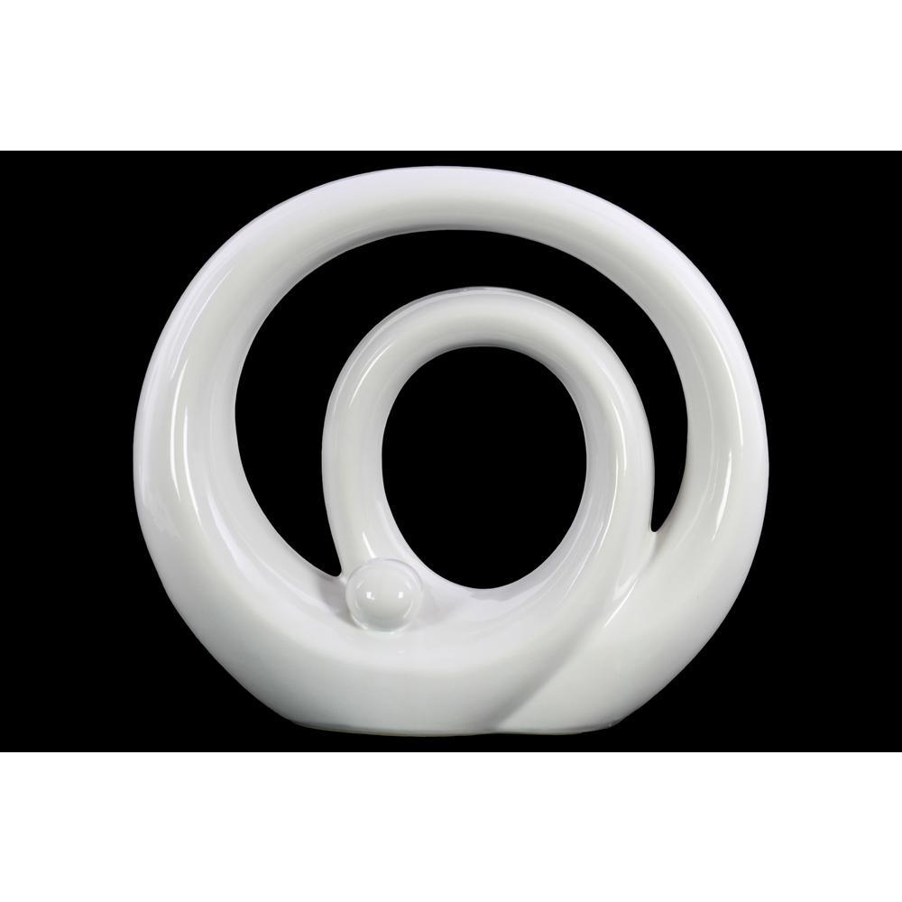 10.75 in. H Sculpture Decorative Sculpture in White Gloss