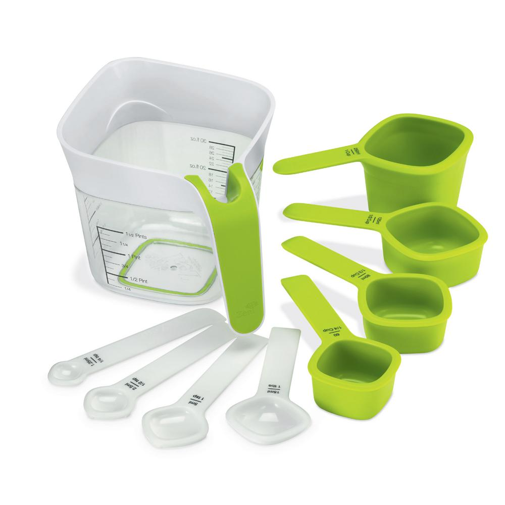 Measuring Spoons Organizer: Zeal Nest And Store 9-Peice Measuring Cups And Spoons Set