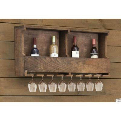 Pomona 8-Bottle Reclaimed Wood Wine Rack
