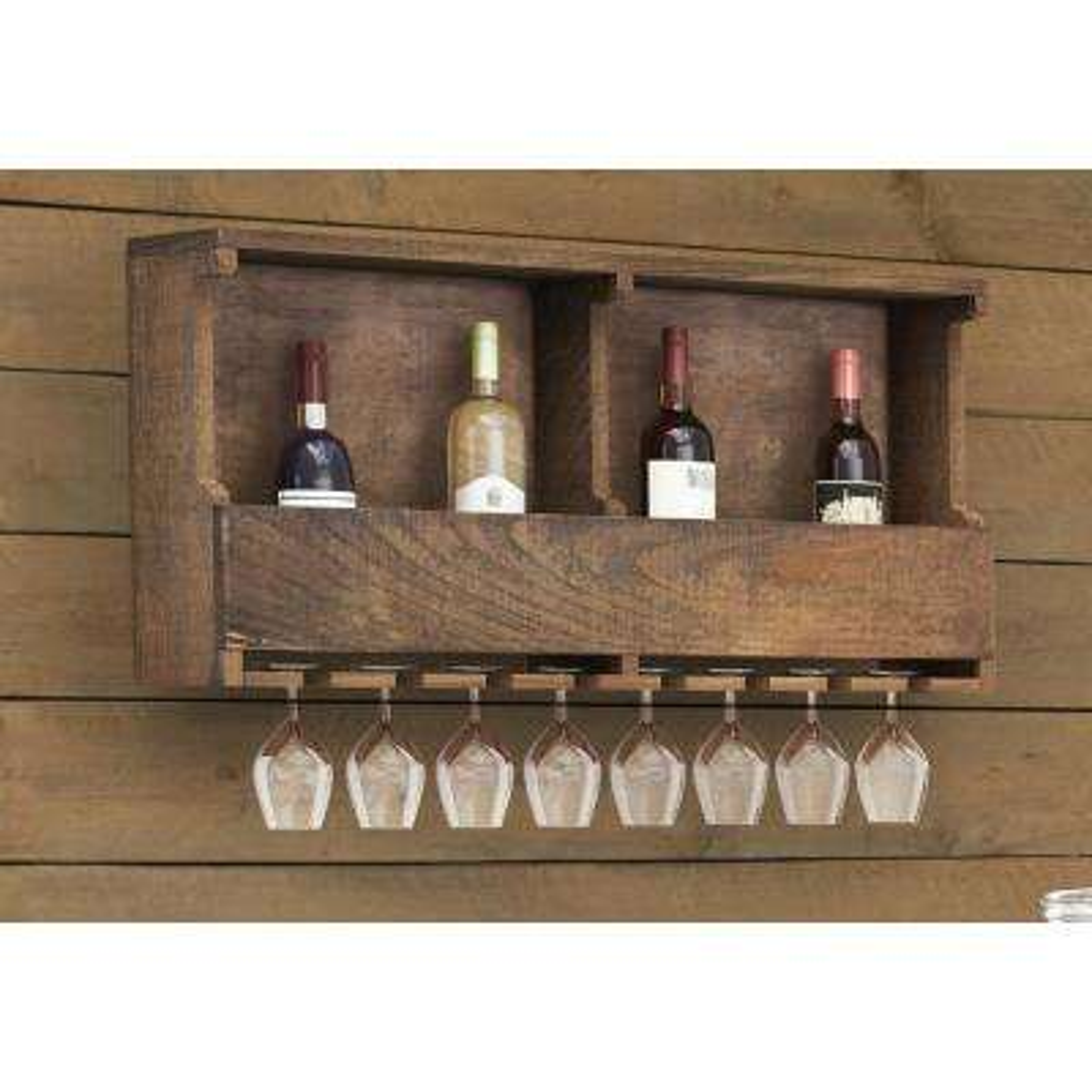 Pomona Reclaimed Wood Wine Rack