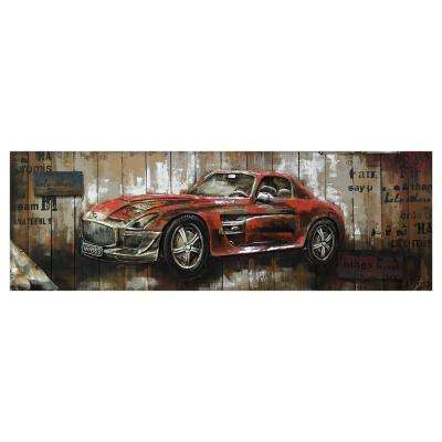 """Red Vintage Car II"" by Unknown Artist Wood Wall Art"