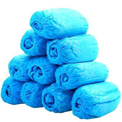 1 Fits All Up to X-Large Blue Polypropylene Disposable Boot Shoe Covers (50-Pairs (100-Pack))