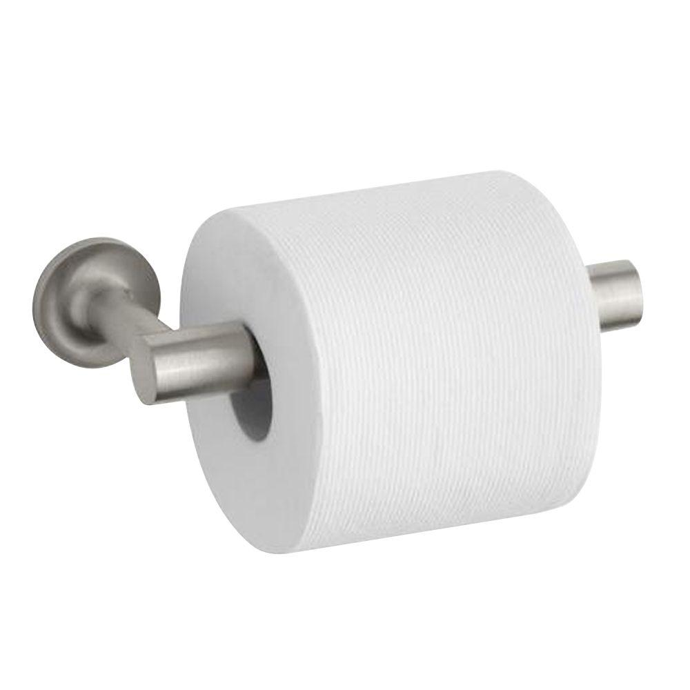 Purist Double Post Toilet Paper Holder in Vibrant Brushed Nickel