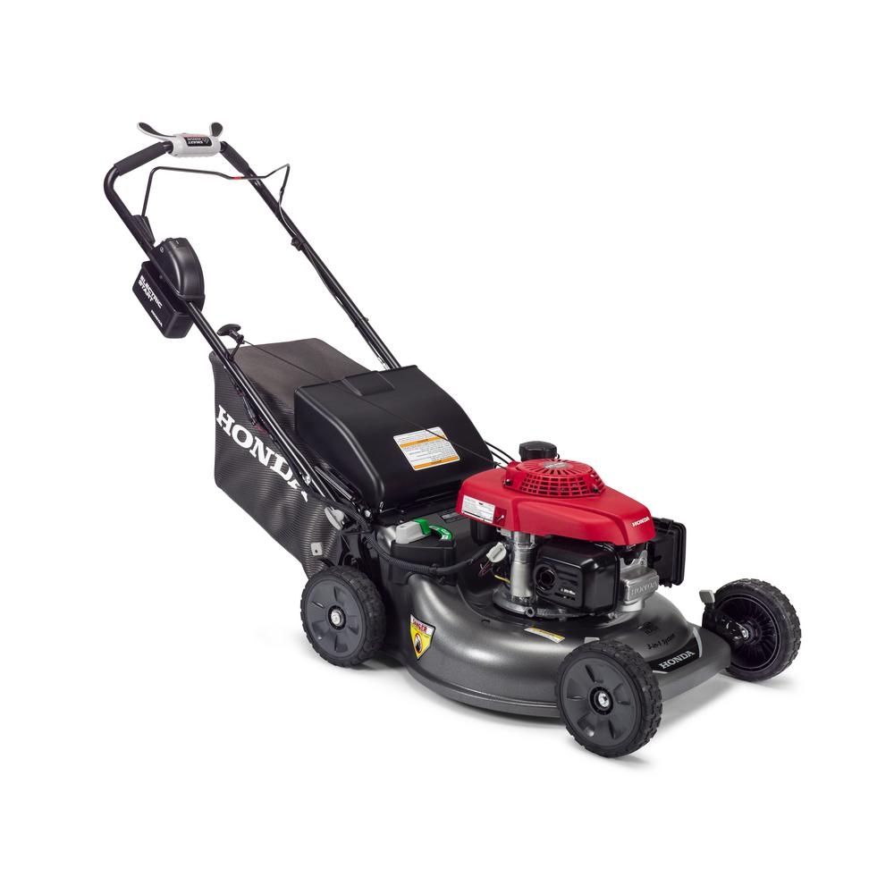 Honda 21 in. Steel Deck Electric Start Gas Walk Behind Self Propelled Mower  with Clip