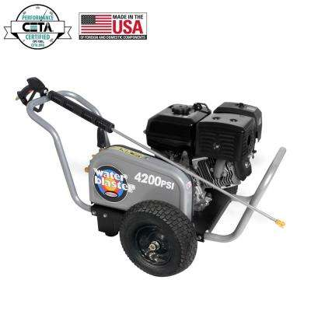 WaterBlaster 4200 PSI at 4.0 GPM HONDA GX390 with AAA Triplex Pump Belt Drive Industrial Gas Pressure Washer