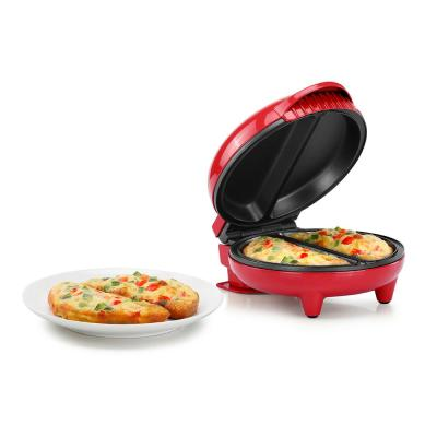 4-Egg Red and Stainless Steel 2-section Omelette Maker