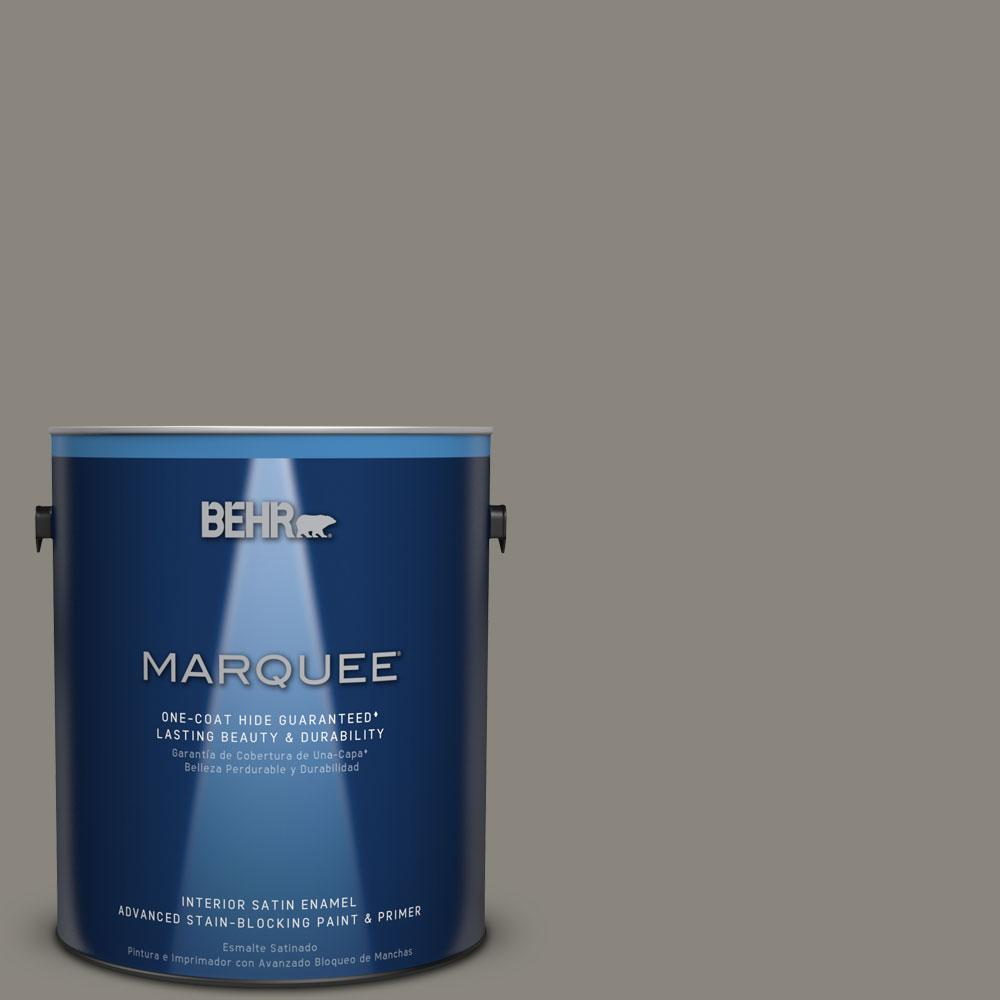 1 gal. #T12-11 Compass Satin Enamel Interior Paint