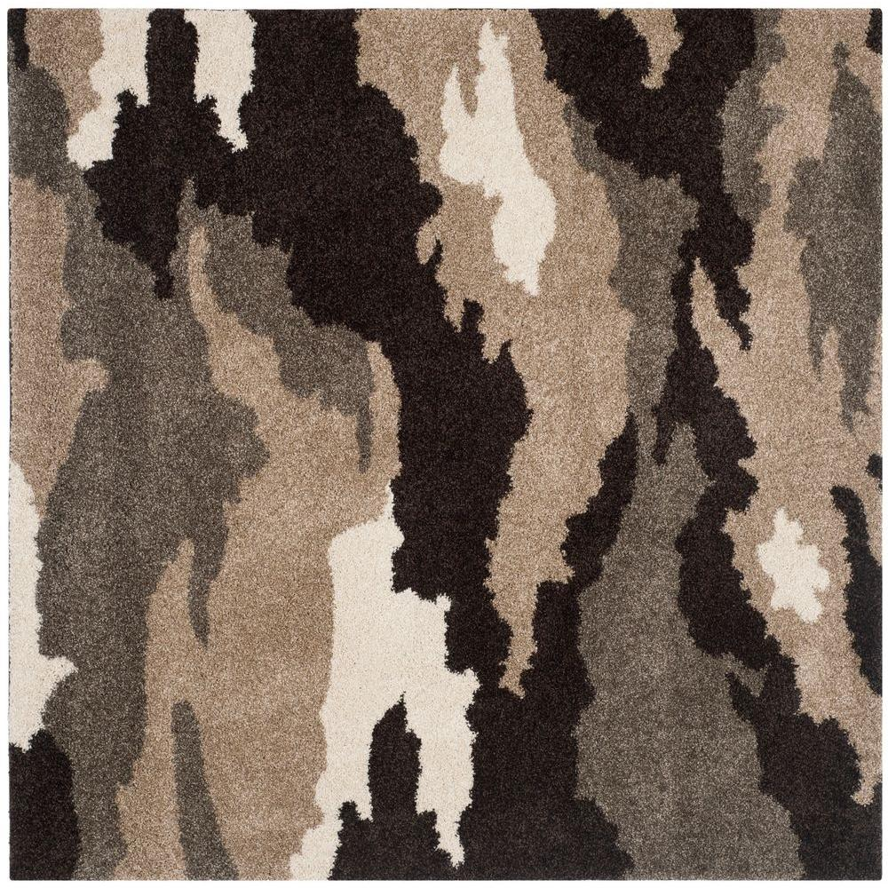 Oriental Rugs Jupiter Florida: Safavieh Florida Shag Beige/Multi 5 Ft. X 5 Ft. Square