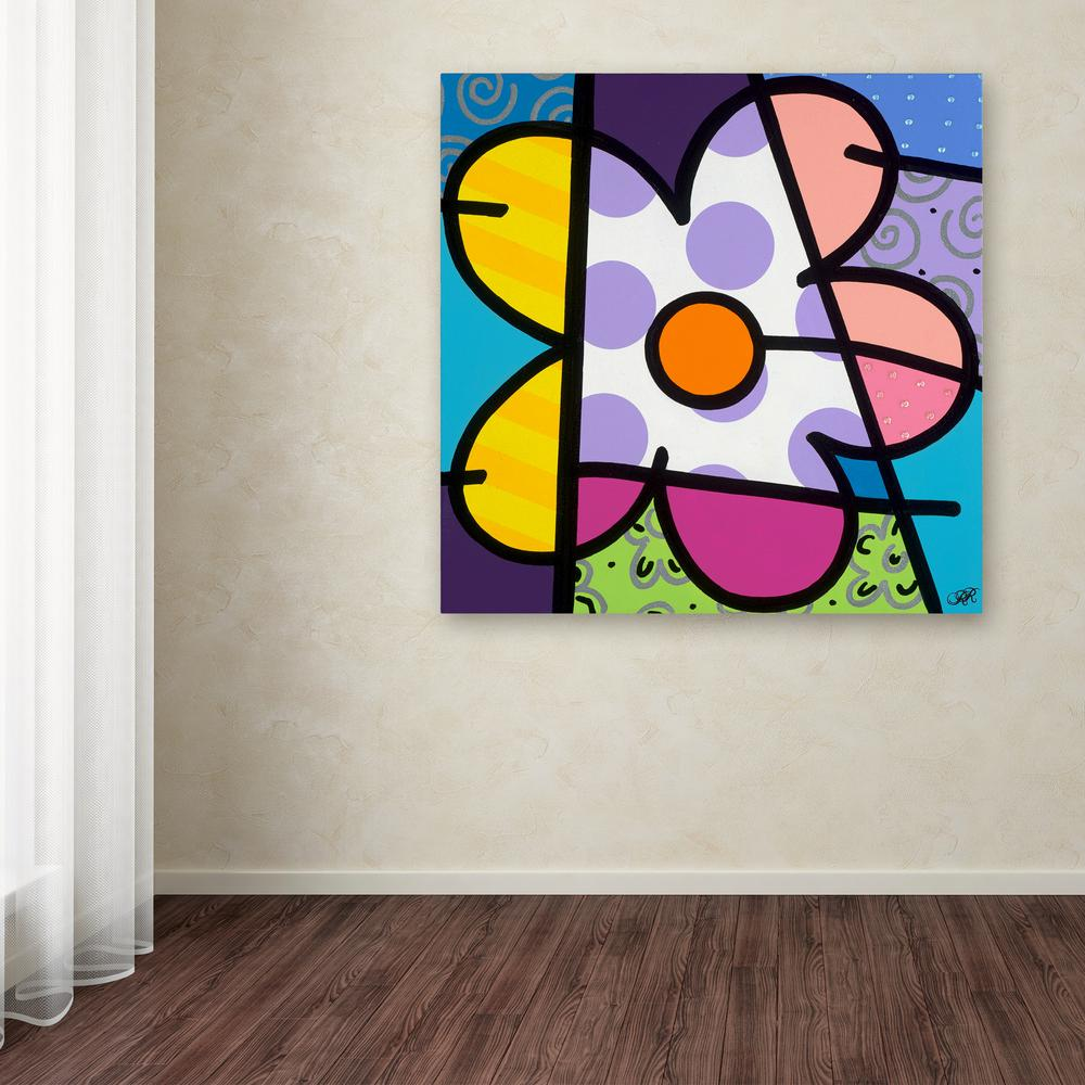 "14 in. x 14 in. ""Big Flower I"" by Roberto Rafael"