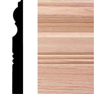 3/4 in. x 6-1/2 in. x 8 ft. Oak Victorian Base Moulding