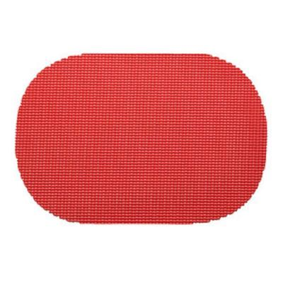 Flag Red Fishnet Oval Placemat (Set of 12)