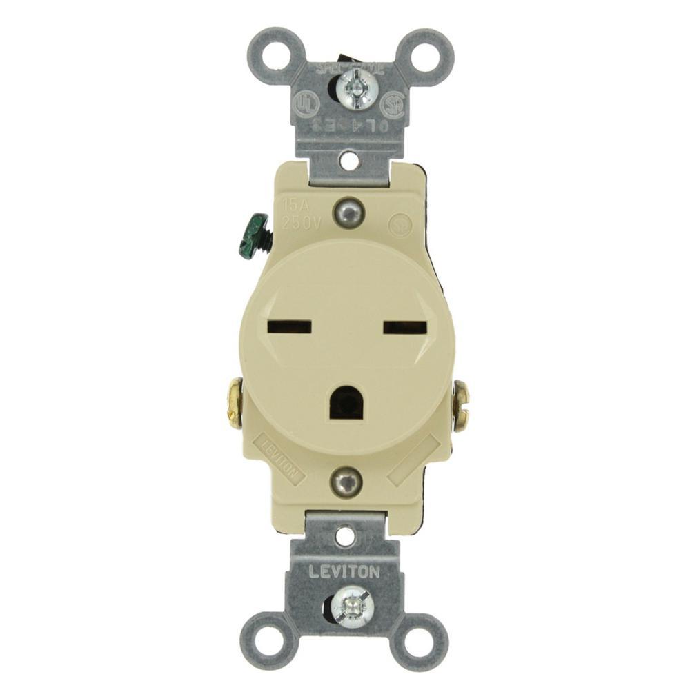 Nec Bathroom Exhaust Fans: Leviton 15 Amp Commercial Grade Grounding Single Outlet