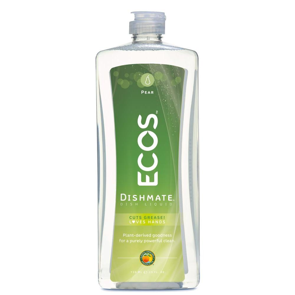 ECOS 25 oz. Squeeze Bottle Ultra Dishmate Pear Scent Dishwashing Liquid