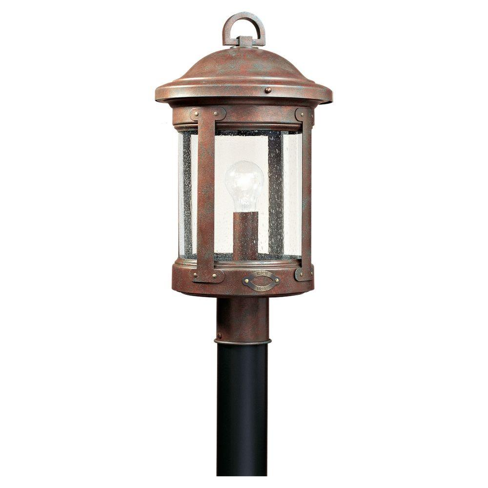 Sea Gull Lighting HSS CO-OP 1-Light Outdoor Weathered Copper Post Top