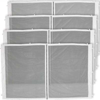 Zippered Mesh Sidewall Panels for 12 ft. x 12 ft. Straight Leg Canopy (4-Pack)