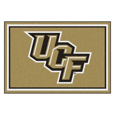 NCAA - University of Central Florida Black 8 ft. x 5 ft. Indoor Area Rug