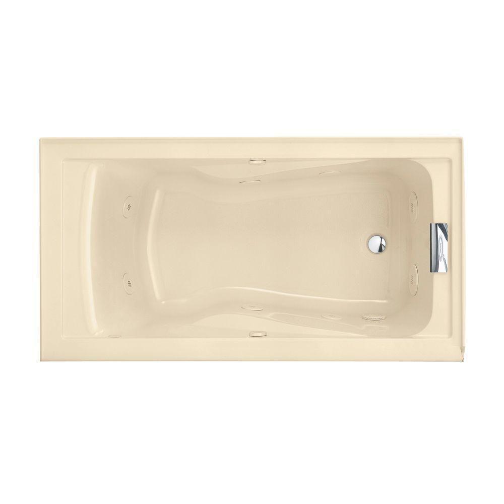 American Standard Evolution Deep Soak EverClean 5 ft. Whirlpool Tub in Bone