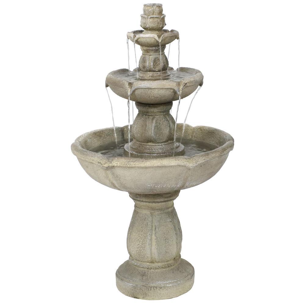 35 in. Birds Delight Outdoor Water Fountain