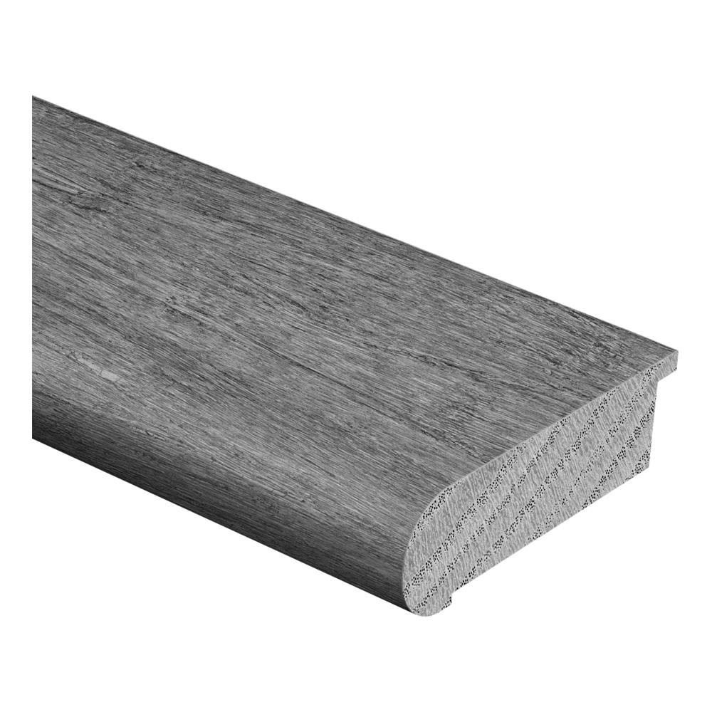 Zamma Unfinished White Oak 3/4 in. Thick x 2-3/4 in. Wide x 94 in. Length Hardwood Stair Nose Molding