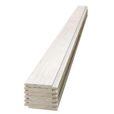 1 in. x 6 in. x 4 ft. Barn Wood White Shiplap Pine Board (6-Pack)