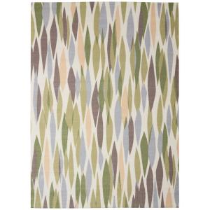 Bits and Pieces Violet 5 ft. x 7 ft. Geometric Modern Indoor/Outdoor Area Rug